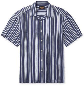 Tod's Camp-Collar Striped Linen Shirt