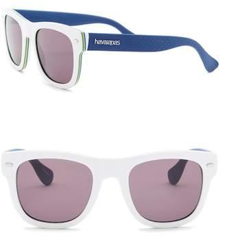 Havaianas Brasil 52mm Square Sunglasses