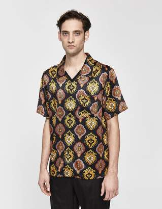 Stussy Shield Button Up Shirt in Black