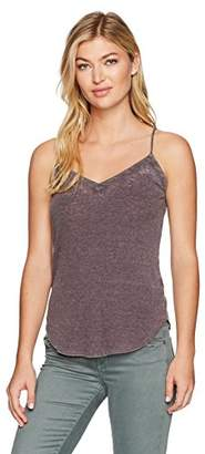 Chaser Women's Vintage Rib Double V-Neck Shirttail Cami