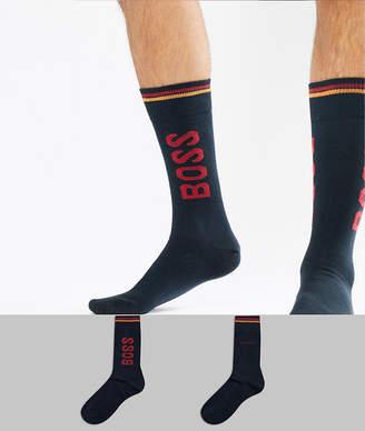 BOSS 2 pack logo socks