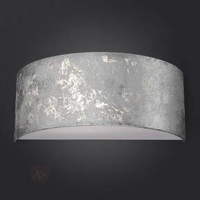 Dimmbare LED-Wandleuchte Alea mit Blattsilber