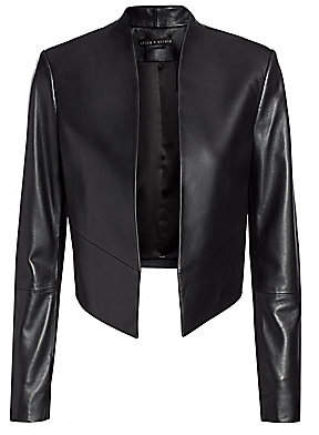 Alice + Olivia Women's Harvey Open Leather Jacket