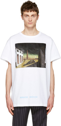Off-White White Silver Chirico T-Shirt $300 thestylecure.com