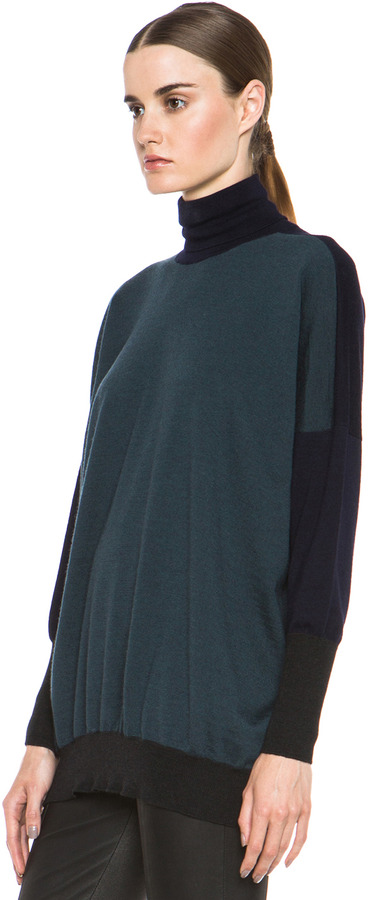 Maison Martin Margiela Turtleneck in Navy Colorblock