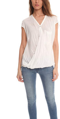 Helmut Lang Lush Voile Draped Angled Top