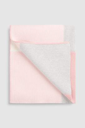 Next Pink Patchwork Blanket (Newborn)