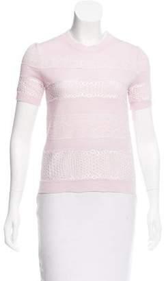Giambattista Valli Cashmere Lace-Trimmed Sweater w/ Tags