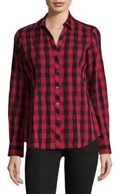 Lord & Taylor Buffalo Check Button-Down Shirt