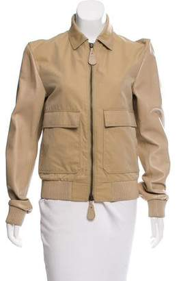 Burberry Contrasted Zip Front Jacket
