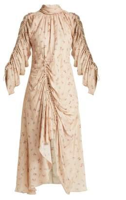 Preen by Thornton Bregazzi Zillie Floral Print Silk Dress - Womens - Ivory Multi
