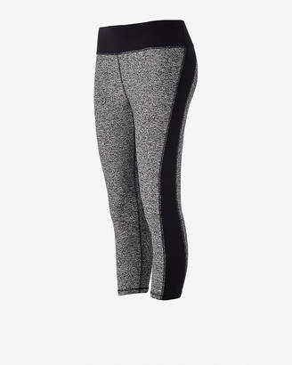 Express Side Stripe Exp Core Compression Cropped Leggings