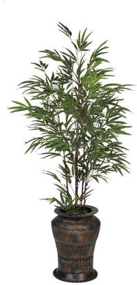House of Silk Flowers Artificial Black Bamboo Tree in Decorative Vase
