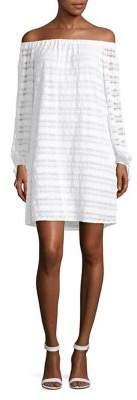 MICHAEL Michael Kors Lace Off-The-Shoulder Day Dress