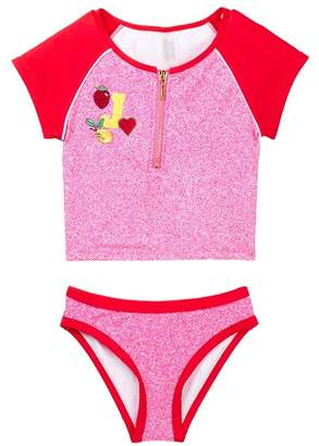 Juicy Couture Black Label Rashgaurd Set (Big Girls)