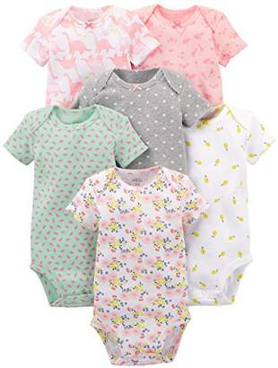 Carter's Simple Joys by Baby Boys 6-Pack Short-Sleeve Bodysuit