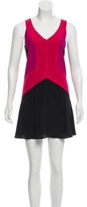 Jay Godfrey Colorblock Silk Dress