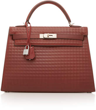 f32fa60e9a1d ... Hermes Vintage by Heritage Auctions 32cm Rouge H Waffle Leather Kelly  Sellier