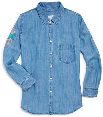 Rails Girls' Batista Embroidery Chambray Button-Down Shirt