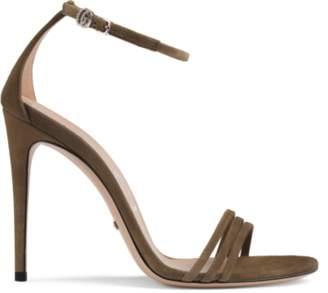 6d10757618a Gucci Suede Women s Sandals - ShopStyle