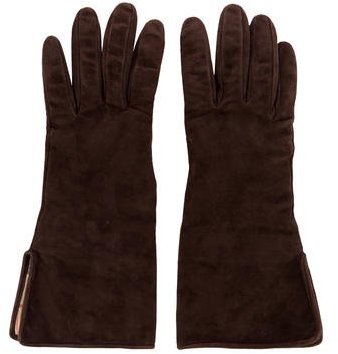 Burberry  Burberry Nova Check Suede Gloves