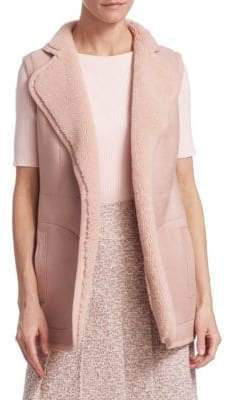 Akris Punto Reversible Lamb Fur Vest