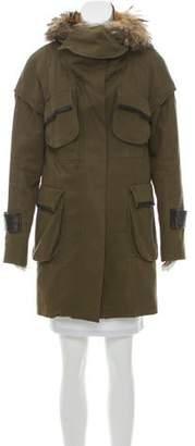 Cynthia Steffe Fur-Accented Parka Coat