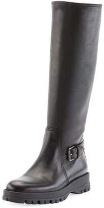 Prada Leather Knee-High Riding Boot
