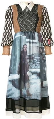 Undercover fabric mix dress