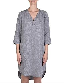 Jump Linen V Neck Dress