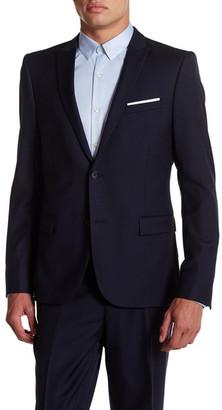 The Kooples Two Button Peak Lapel Wool Suit Jacket $595 thestylecure.com