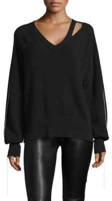 Helmut Lang Distressed Cutout Sweater