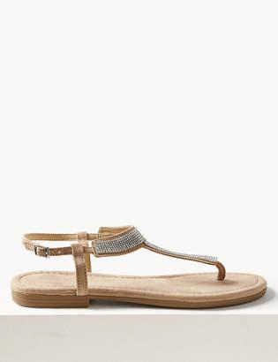 Marks and Spencer T-Bar Embellished Sandals