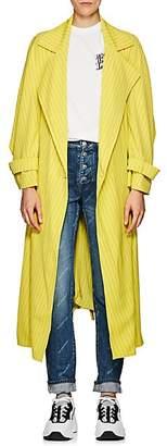 Koché Women's Striped Crepe Trench Coat - Yellow