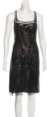 Ralph Rucci Vinyl-Trimmed Midi Dress