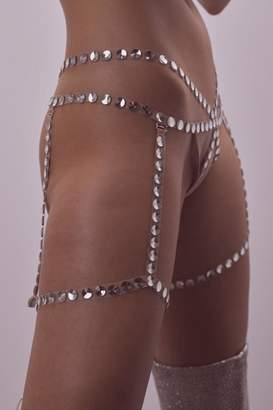 For Love & Lemons Sin-City Garter Thong