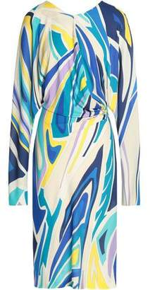 Emilio Pucci Draped Printed Jersey Dress