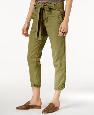 Free People Universal Boyfriend Cropped Cargo Pants $98 thestylecure.com