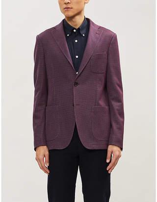 Etro Mini dot-woven single-breasted cotton-blend blazer