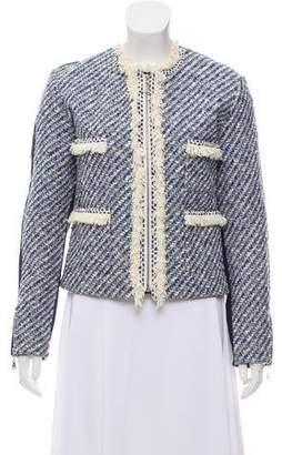 Louis Vuitton Tweed-Paneled Leather Jacket