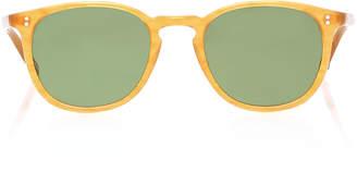 Garrett Leight Kinney Round-Frame Acetate Sunglasses