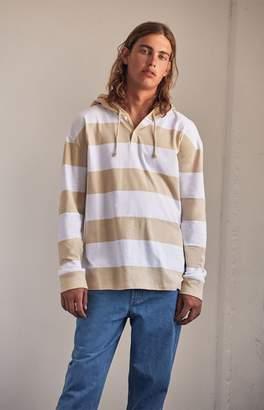 PacSun Captain Side Stripe Hooded Long Sleeve T-Shirt