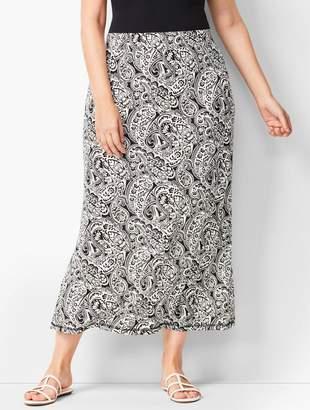 9026ce138b Talbots Plus-Size Knit Jersey Maxi Skirt - Paisley