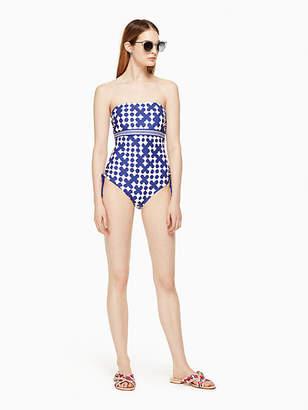 Kate Spade Moonstone beach bandeau one-piece swimsuit