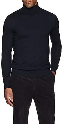 Brioni Men's Fine-Gauge Cashmere Turtleneck Sweater - Navy