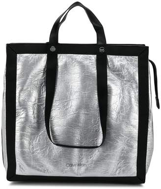 Calvin Klein metallic tote bag