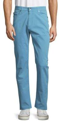 Robert Talbott Solid Cotton-Blend Pants