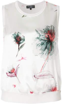 Salvatore Ferragamo sleeveless floral tank top