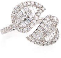 Anita Ko 18k White Gold & Diamond Medium Leaf Ring