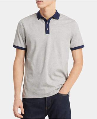 Calvin Klein Men Liquid Touch Big & Tall Slim-Fit Contrast Jacquard-Collar Polo Shirt